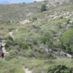 Ultimo tramo de subida hacia el alto de la Sierra de la Vila