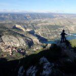 Gabi disfrutando de las vistas desde la Senda de la Cortada