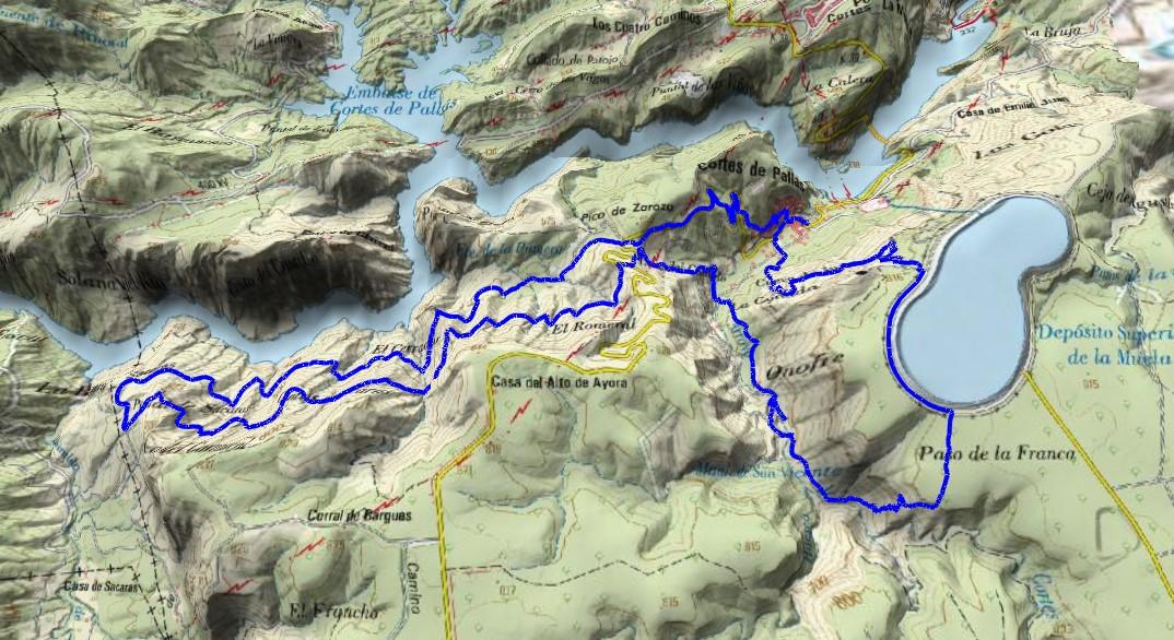 Trazando la ruta sobre el mapa