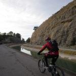 Inicio de la ruta junto al canal del trasvase Tajo-Segura