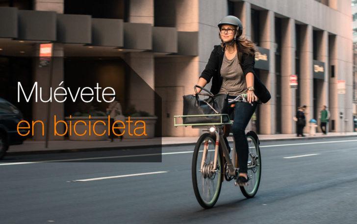 Muévete en bicicleta