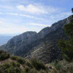 Vista del Benicadell desde la bajada