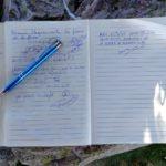 Firmamos en el libro de cumbres de Sierra Alta