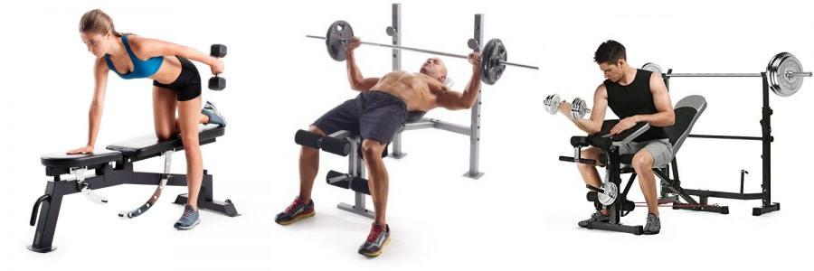 Diferentes bancos de musculación