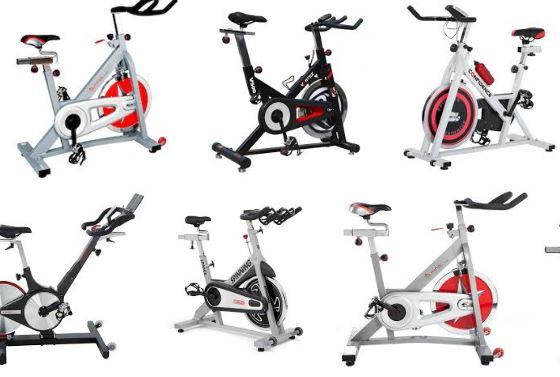Diferentes modelos de bicicleta de spinning