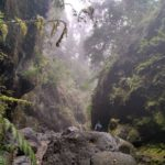 Zona de grandes piedras en el Barranco Rivero