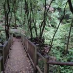 Bonito puente que cruzamos bajando el Barranco Rivero