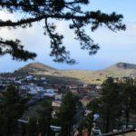 Vista de Los Canarios al inicio de la ruta
