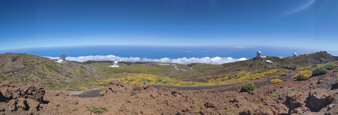 Panoramica del Observatorio del Roque de los Muchachos