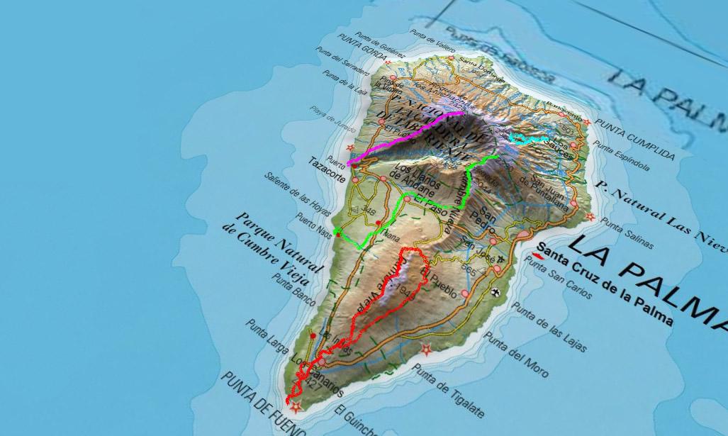 Rutas elegidas por La Palma