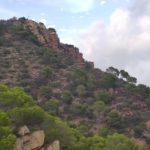 Vista de la cruz del Monte Picaio desde la bajada