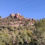 Vista del Castillo desde el inicio de la senda
