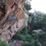 Bloques de piedra durante la subida