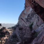 Bloques de piedra del ródeno que encontramos en la subida