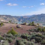 Vista de la explanada que antaño fue el crater del volcan