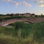Cruzaremos diferentes puentes de madera sobre el Turia