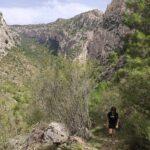 Ascenso por el Barranco de Valloré hacia el mirador