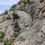 La subida hacia el mirador de Valloré es escarpada pero está bien equipada