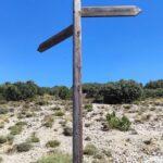 Indicador a la ruta de los Miradores de la Hoz Mala