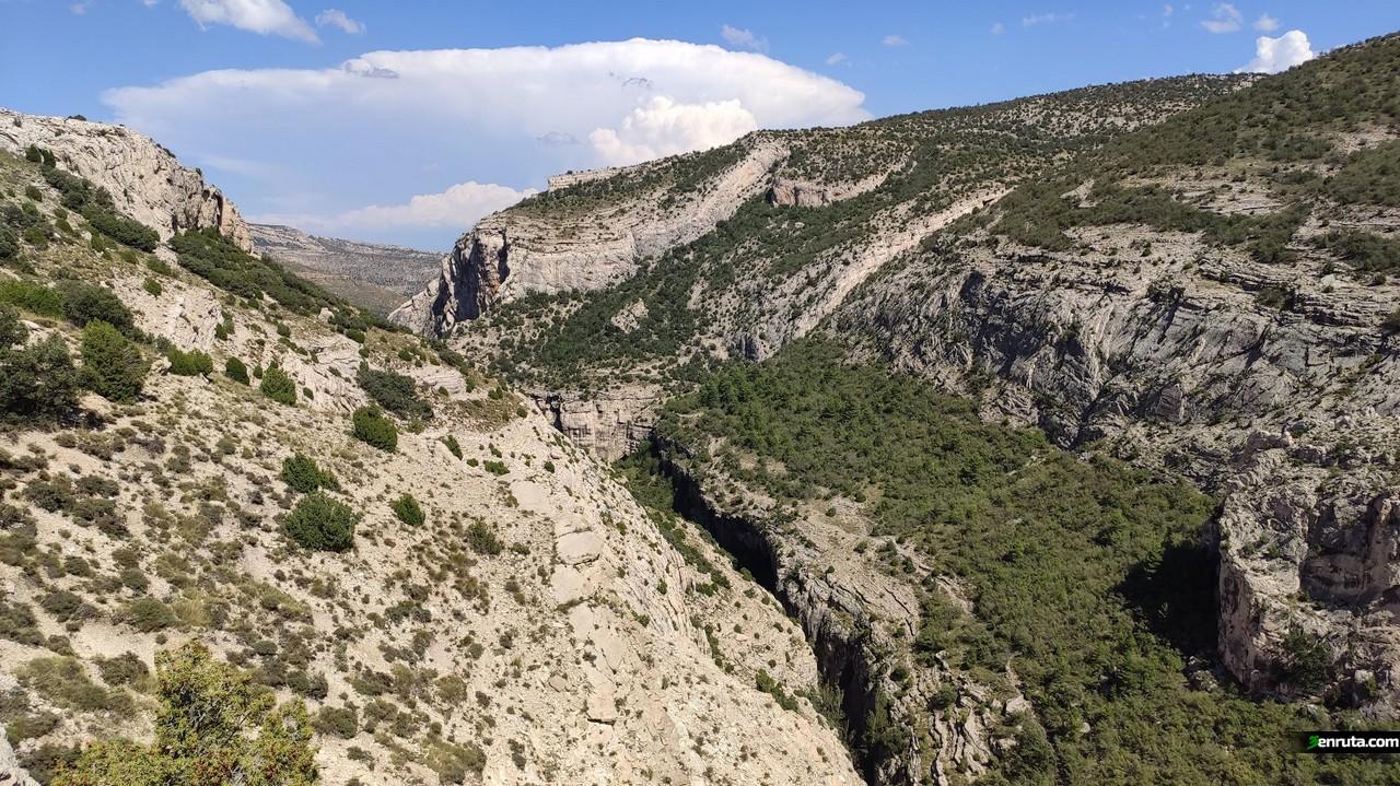 Vista de la Hoz Mala desde el primer mirador