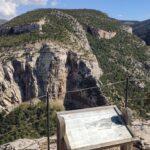 El mirador de los estrechos del Guadalope sobre la Hoz Mala de Aliaga