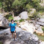 Cruzamos el rio Guadalope por una puente metalico