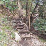 Las escaleras nos hacen perder altura rápidamente para llegar al rio