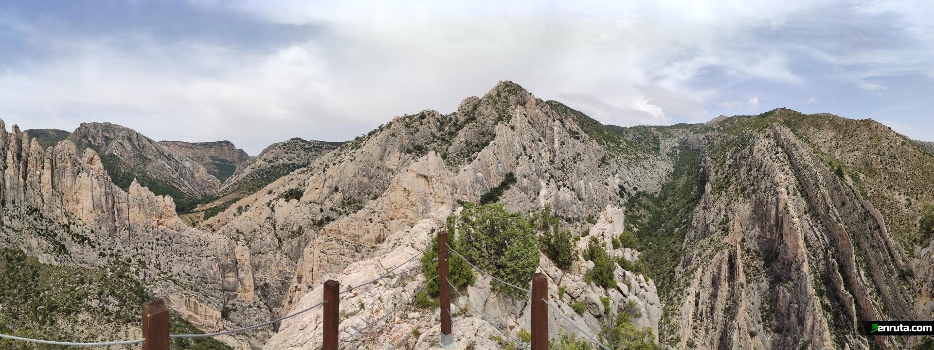 Vista panorámica desde el mirador de Valloré