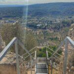 Escalera de acceso al castillo de Navarrés