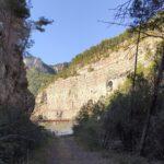 Llegamos al Aliviadero del embalse de Arenoso (El chorro de Montanejos)