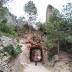 Pequeño tunel que atravesamos al inicio de la ruta de El Parrizal de Beceite