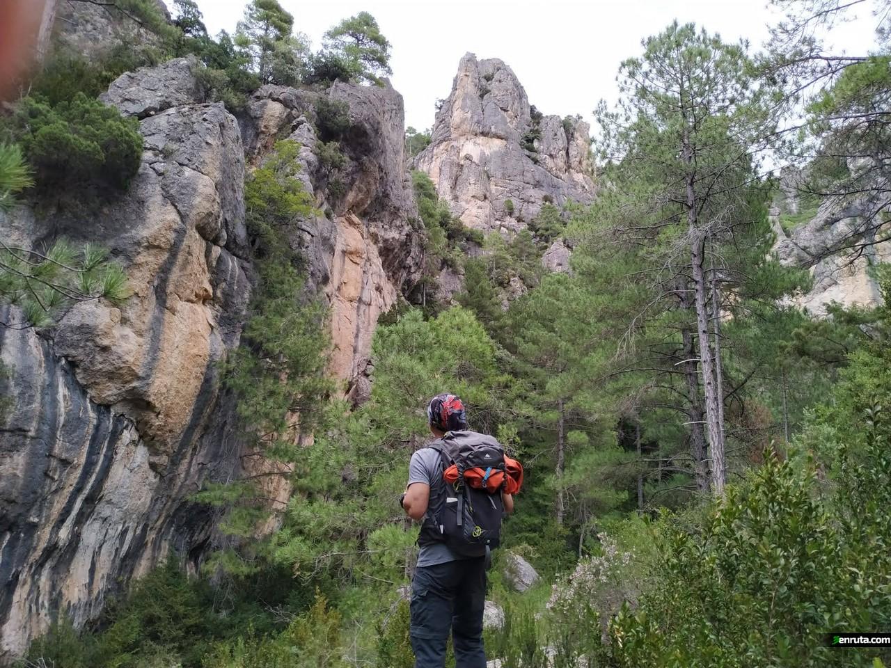 Vistas de los farallones de roca que nos rodean