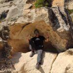 Curiosa formación a modo de concha o trono de roca