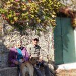 Papá y mamá en el Mas de la Solana