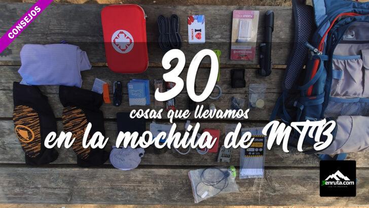 30 cosas que debo llevar en mi mochila para salir de ruta en MTB