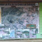 Panel informativo de la ruta junto a la escuela infantil El Tabalet