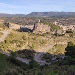 Vista desde la primera subida por pista hacia La Muela