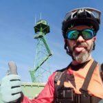 El mega-crack barbudo en la torre del pico Sayas