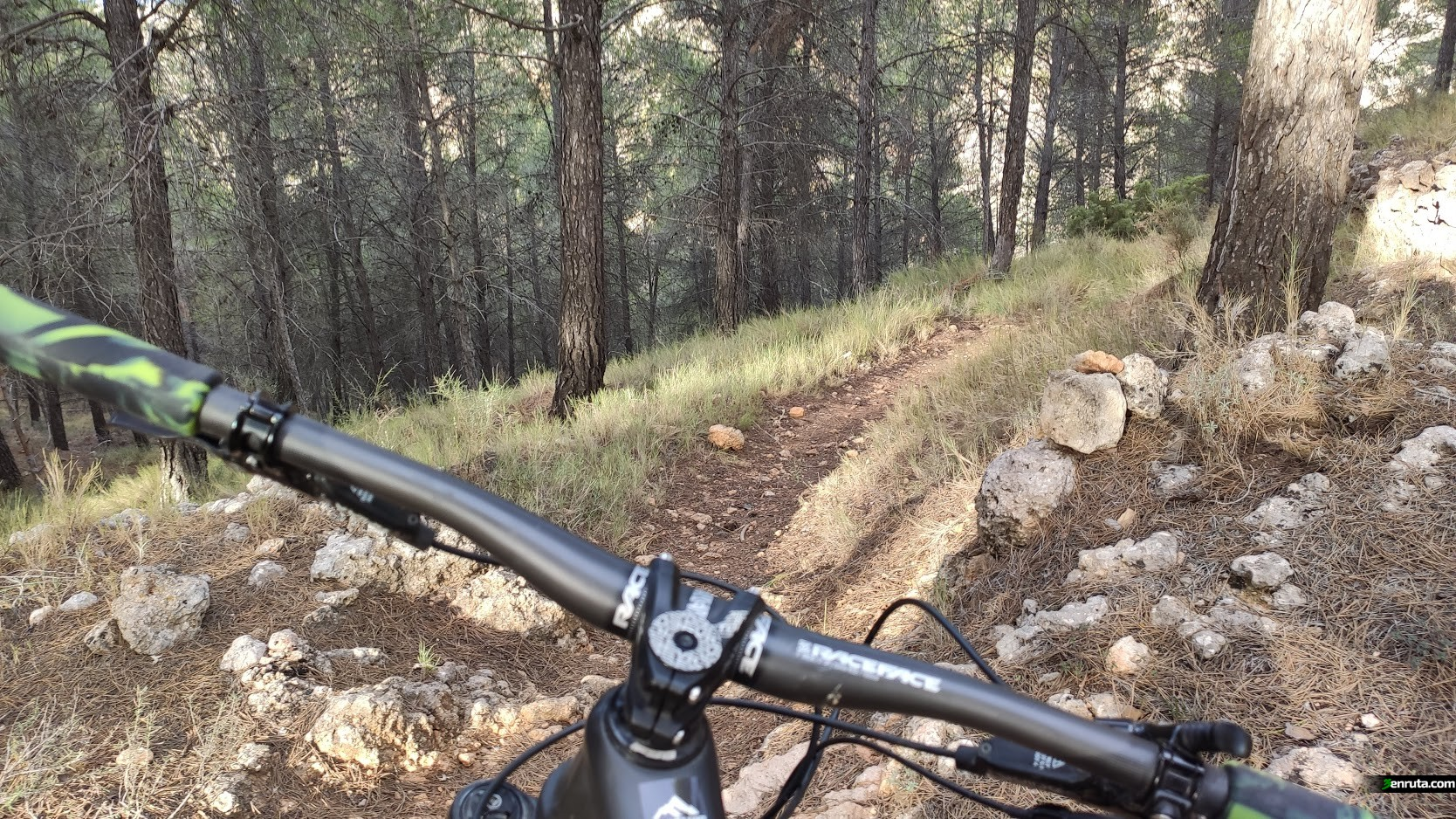 Tramo de sendas de bajada desde La Sesga