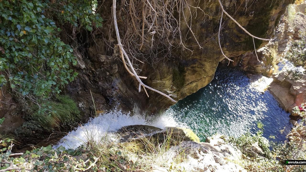 Cascada del Río Carbó desde arriba