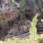 El rio encajonado a nuestros pies