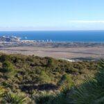 Vistas del litoral y Cullera desde el trayecto a la Cueva de la Galera