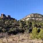 Vista del Castillo de Chera desde las proximidades