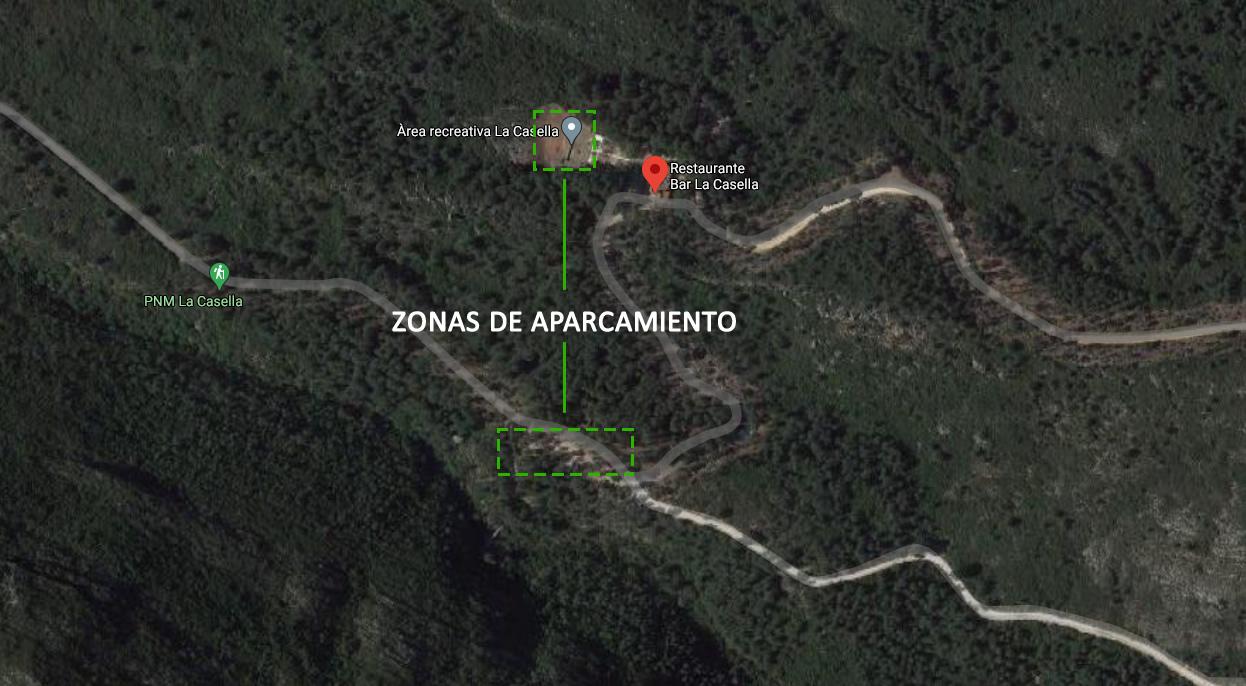 Parking del Parque Natural de la Casella