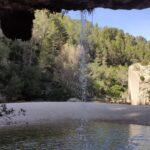 Charco del Chorro desde detras de la cascada