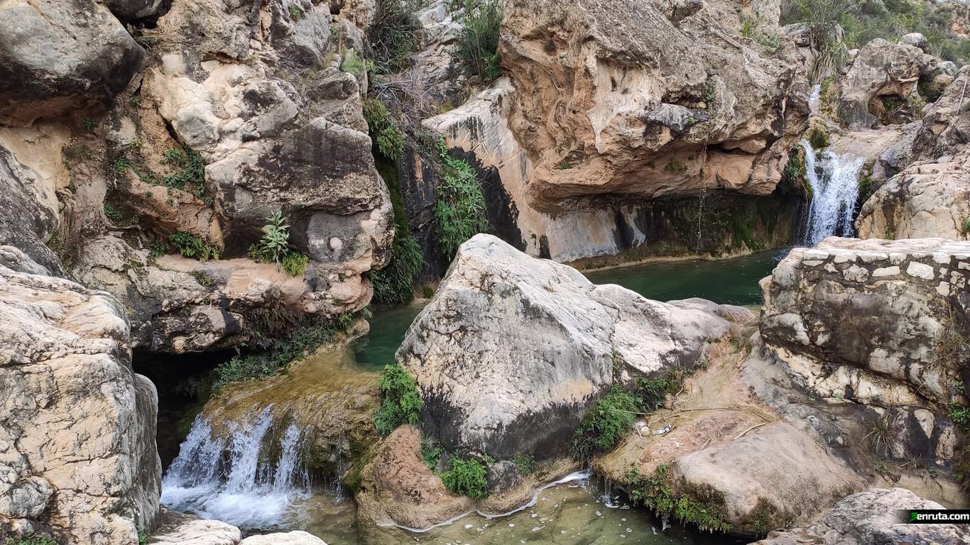 Pozas del Rio Sallent en Bolbaite